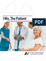 We, The Patient-Lean Six Sigma Improves Patient Care Quality and Business Performance