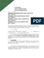 DDA ORDINARIA COBRO DE PESOS loreto