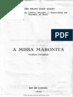A MISSA MARONITA