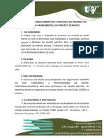 REGULAMENTO DO CONCURSO DE DESENHO DA SEMANA DA SAÚDE MENTAL DO PROJETO TEAR 2021