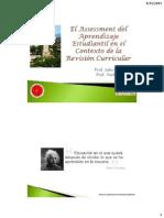 El Assessment del Aprendizaje Estudiantil en el Contexto de la Revisión Curricular
