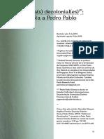 06 Gómez, Pedro Pablo. Estéticas Decoloniales (Entrevista)