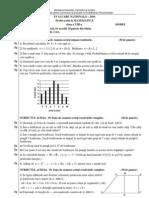 evaluare nationala 2010 matematica