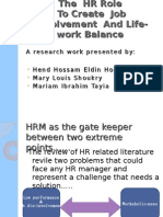 HRm and job involvement