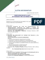 Boletín Informativo ACP - Marzo 2011