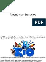 Taxonomia - Exercícios