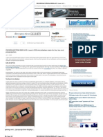 PICOPROJECTION DISPLAYS_ Laser-LCOS microdisplays make for tiny, low-cost picoprojectors - Laser Focus World