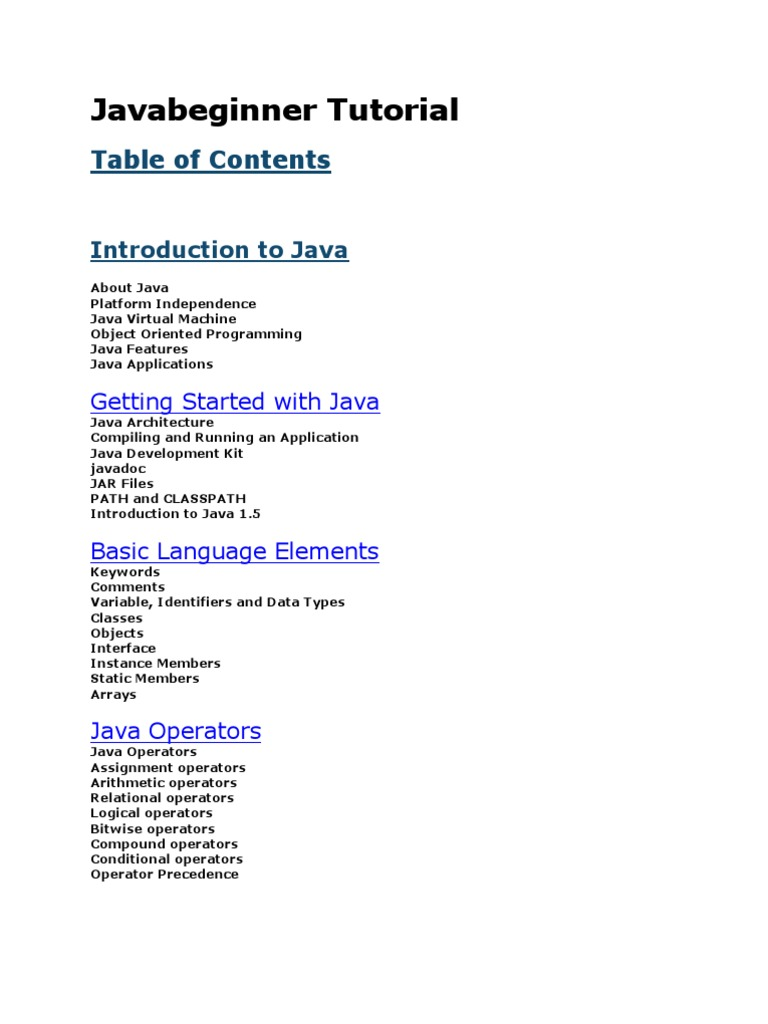 Javabeginner tutorial java programming language control flow baditri Gallery