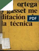 Meditación de la técnica. José Ortega y Gasset. atek