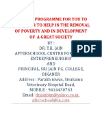 20 Point Programme for You to Remember to Help in the Removal of Poverty and in Development of a Great Society