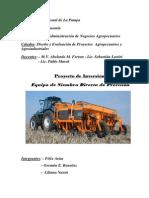 Agricultura Precision equipo siembra directa