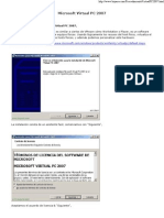 Procedimiento Virtual PC 2007
