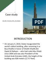 Case study of BURJ KHALIFA, DUBAI