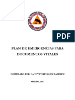 PLAN DE EMERGENCIAS PARA DOCUMENTOS VITALES