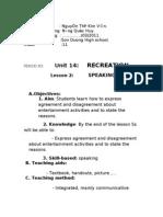 Unit 14 Recreation  Speaking 0
