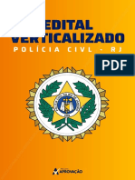 Edital Verticalizado Investigador Policial 2021