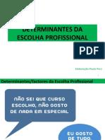 DETERMINANTES DA ESCOLHA PROFISSIONAL - Factores internos_2018