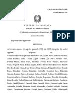 Tar Lazio Decreti Organici