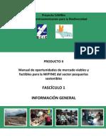 Información General. Manual de oportunidades de mercado viables y factibles para la MIPYME del sector pesquerías sostenibles