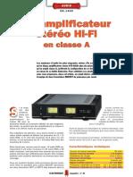 Amplificador Clase A MOSFET 24W + 24W  Nueva Electronica