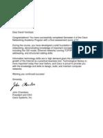 Cisco NetAcad Letter