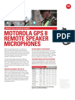 XTS GPS II Microphone Spec Sheet