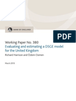 how to estimate DSGE MODEL