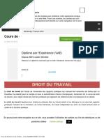 Cours1 de Droit Du Travail - Fiches _ Cours