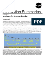 NASA Information Summaries Maximum Performance Landing