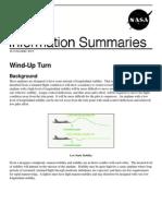 NASA Information Summaries Wind-Up Turn