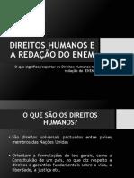 DIREITOS HUMANOS E A REDAÇÃO DO ENEM