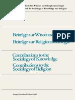 (Internationales Jahrbuch Für Wissens- Und Religionssoziologie _ International Yearbook for Sociology of Knowledge and Religion 10) Fritz Schütze (Auth.), Günter Dux, Thomas Luckmann (Eds.) - Contribu