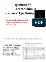 Management of Fracture Acetabulum in Geriatric Age Group Saturday 12 15