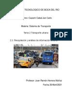 2.3. Recopilación y Análisis de Información Urbana. Cazarin Cabal Jan Carlo