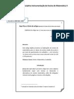 Modelo de artigo para disciplina Instrumentação de Ensino de Matemática II