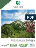 Einzelbroschuere Bergsteigerdoerfer Am Geigelstein 2017