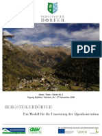 Tagungsband 02 Umsetzung Alpenkonvention 2008 Mallnitz
