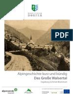 Alpingeschichte Grosses Walsertal 2018