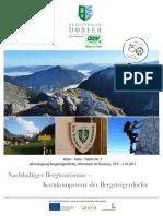 Tagungsband 05 Nachhaltiger Bergtourismus 2011 Johnsbach