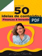 50 ideias de conteúdo