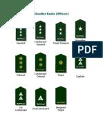 Philippine Army - Shoulder Ranks