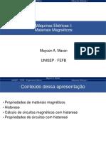 Aula 1d - Maquinas I - Materiais Magneticos