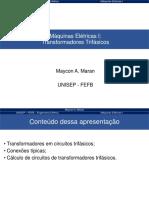 Aula 2d - Maquinas I - Transformadores trifasicos