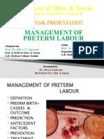 divya- recent guidlines inmanagement of preterm labour
