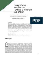 Texto 3 - A Competência LinguÃ_stica desmitificando o mito do não-saber (1)