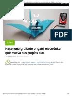 Cómo Hacer Una Grúa Electrónica de Origami Que Mueva Sus Propias Alas «Origami __ WonderHowTo