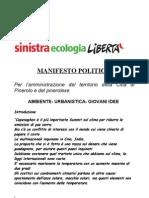 MANIFESTO POLITICO SEL PINEROLO