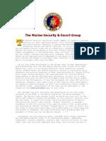 Philippine Marine Corps - The Marine Security & Escort Group