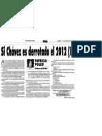 Si Chavez Pierde en El 2012