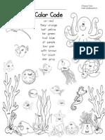 Ocean Scene Sight Word Color Code